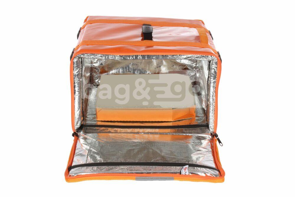 Термосумка для пиццы с карманом для документов (тканевый или прозрачный)