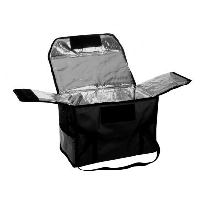 Термосумка для обедов 500х250х350 мм фольгированная черная