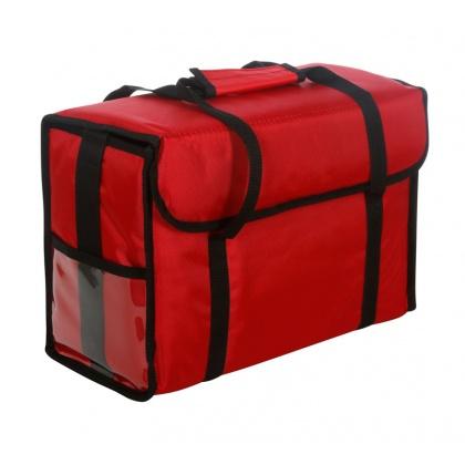 Термосумка для обедов 450х200х300 мм фольгированная красная