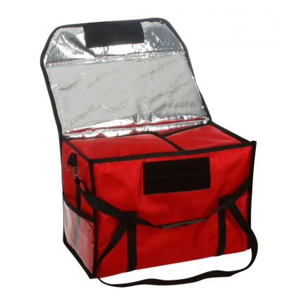 Термосумка для обедов 500х250х350 мм фольгированная красная