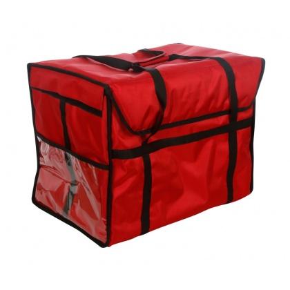 Термосумка для обедов 600х400х450 мм фольгированная красная
