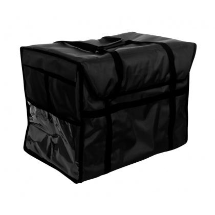Термосумка для обедов 600х400х450 мм фольгированная черная