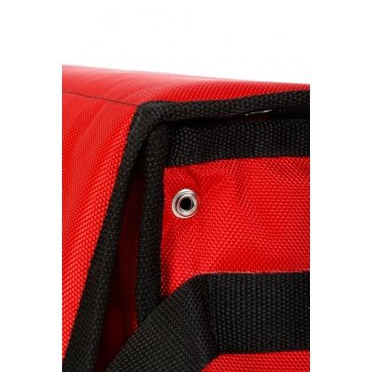 Термосумка на 2 пиццы 420х420х100 мм фольгированная большая красная с вентиляцией