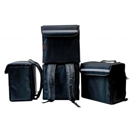 Терморюкзак 400х250х450 мм фольгированный черный